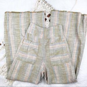 NWT free people linen wide leg pants